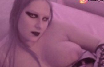 Jerk off with Nadine Cays the German Gothic Teen & Her Natural Monster Tits