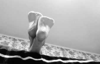 Feet Foot Fetish Ignore - Black and White Artsy High Arched Soles In Your Face