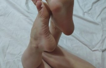 Feet Show - White Socks, High Arched Meaty Soles