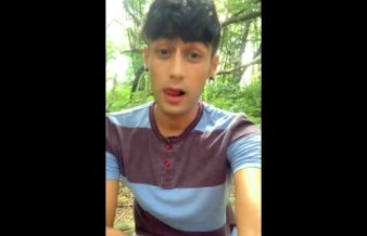 Twink farts long loud and wet - outdoor