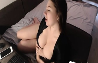 Showing Off My Knockers And Playing With A Dildo