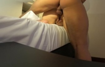 Amateur couple anal sex and creampie.