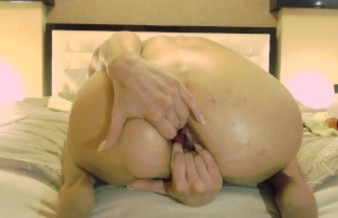Petite blonde NatusAmare stretches her slack holes and squirts. Demo video