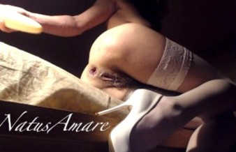 White stockings and ass-play in the spotlight